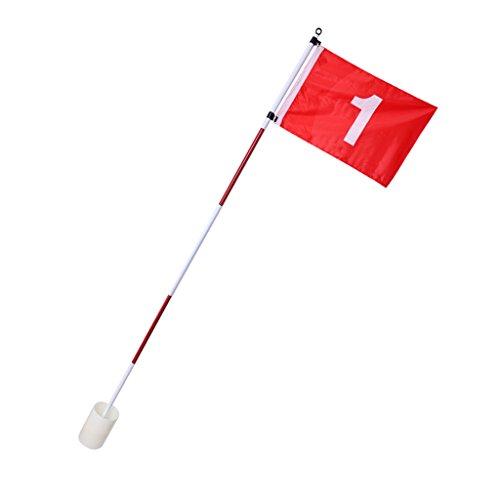 F Fityle Golf Flag - Golffahne mit Golfloch - als Deko oder für Übungszwecke im Garten