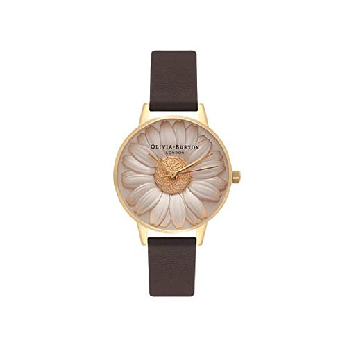 Olivia Burton Damen Analog Quarz Uhr mit Leder Armband OB15EG38