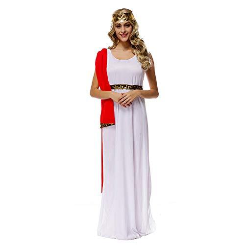 hhalibaba Disfraz de Princesa Romana para Mujer Disfraz de Diosa olímpica Griega de Halloween Disfraz de Traje Griego