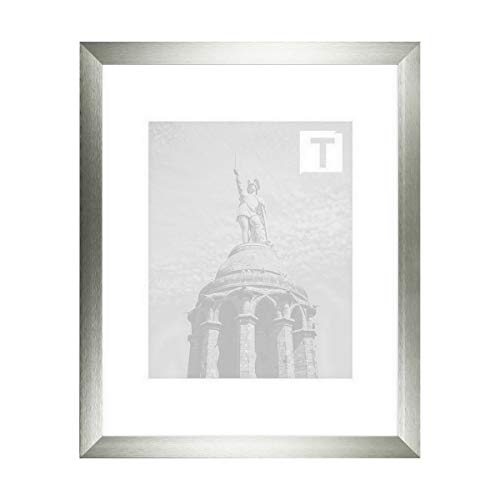 Aluminium-Bilderrahmen Tanja Silber 15 x 20 cm Museumsglas 2mm breit stabil