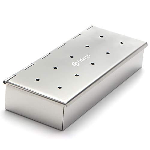 Ofargo BBQ Grill Smoker Box für Holzspäne mit Edelstahl Material verwendet auf Holzkohle und Gasgrill