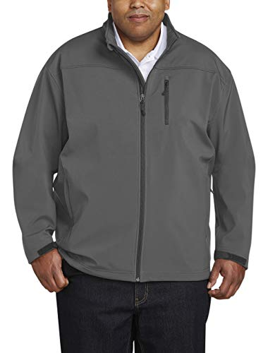Amazon Essentials Men s Big & Tall Water-Resistant Softshell Jacket fit by DXL, Gray, 4X