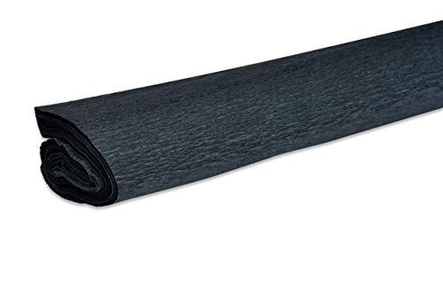 VBS Krepppapier 200cm 32g/qm verschiedene Farben Schwarz