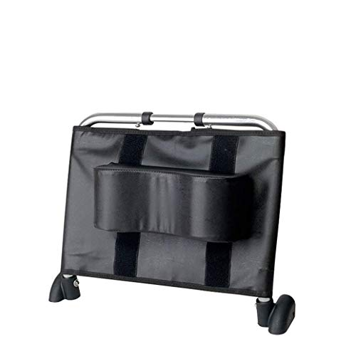 Apoyacabeza para silla de ruedas Soporte para el cuello Acolchado para la cabeza Portátil de cuero para adultos Sillas de ruedas de viaje Accesorios para asientos, negro, 37 cm x 42 cm
