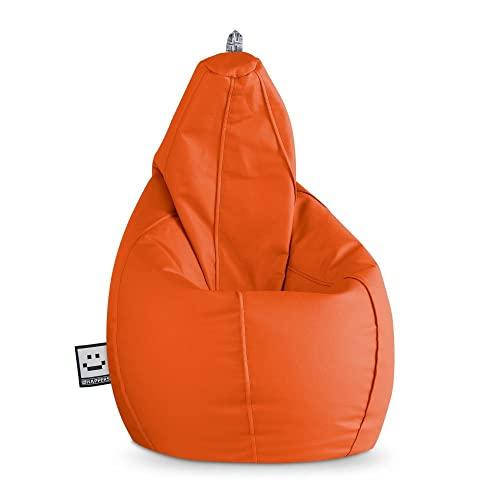 HAPPERS Puff Pera Polipiel Interior Naranja XL