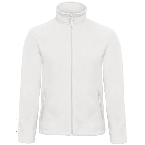 B&C Collection Herren ID 501 Mikro Fleece Jacke (Small) (Weiß)