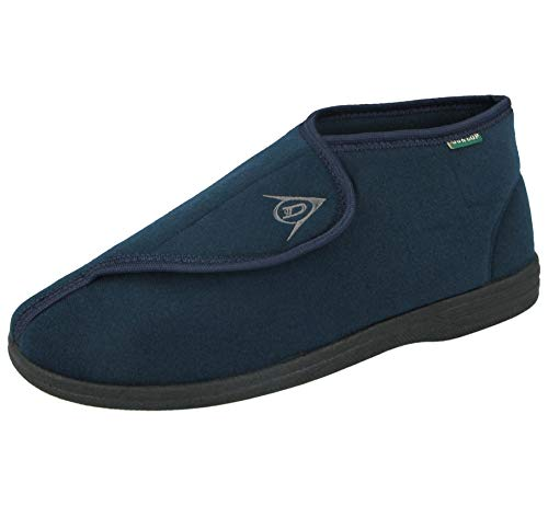 Dunlop Dmh7595 Herren Einstellbare Klettverschluss Orthopädische Stiefel Pantoffeln Marine Blau EU 45