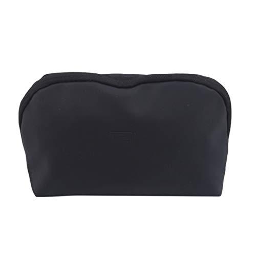 Beiswin Schalenform Kosmetiktasche Make-up-Tasche wasserdichte Reisespeicher Outdoor-Tasche Toiletry Zipper Organizer (groß schwarz)