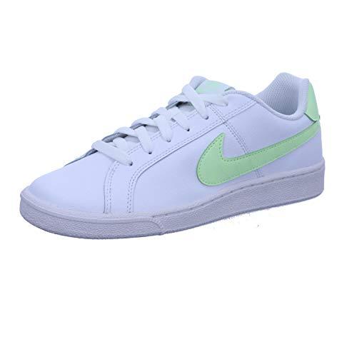 Nike Women's Court Royale Shoe, Scarpe da Tennis Donna, White/Barely Volt, 38.5 EU