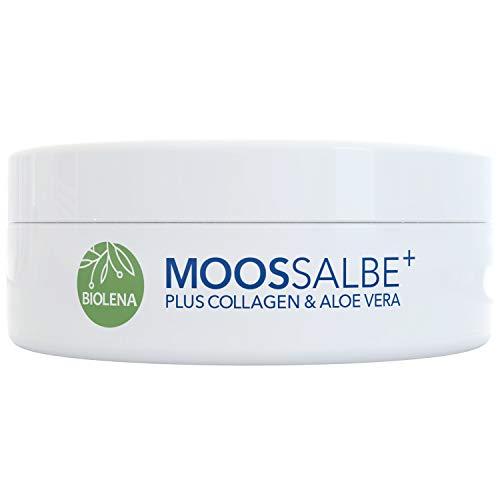 Biolena Moossalbe Plus – Mooscreme gegen Falten (1 Tiegel je 100 ml) – Moossalbe Gesicht Falten Antifaltencreme Soforteffekt Moos Salbe