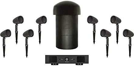 Sonance - Garden Series 8.1-Ch. Outdoor Speaker System with 2-Ch. Amplifier (8-Pack) - Dark Brown/Black