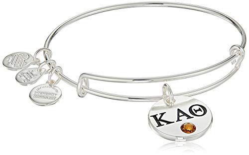 Alex and Ani Women's Color Infusion Kappa Alpha Theta II EWB Bracelet, Shiny Silver
