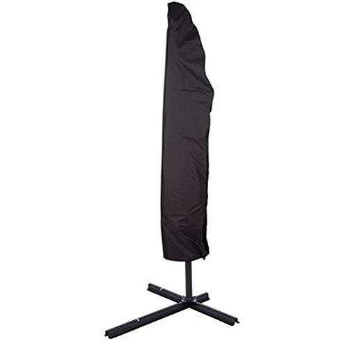 Outdoor Patio Umbrella Zonnescherm Cover, Zipper Black Umbrella Cover, 210D Oxford doek stofdicht Zonnescherm Cover, drie maten (Size : 205cm:57 * 48 * 25cm)