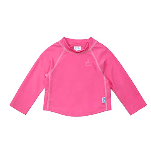 i play. by green sprouts unisex-baby Long Sleeve Rashguard | All-day UPF 50+ sun protection—wet or dry,Hot Pink,4T