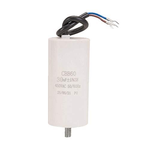 ICQUANZX Condensatore Lavatrice 30uF CBB60 AC450V 50 / 60Hz Motore Pompa Pompa condensatore di avviamento (1PC)