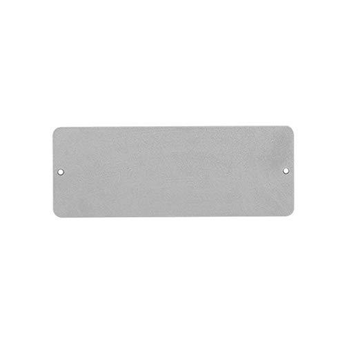 KalaMitica 24009-990-024 magnetische Kreidetafel aus Stahl, Silber 9x24 cm