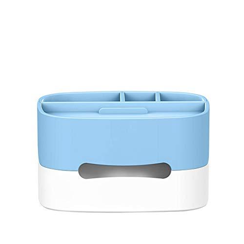 XYZMDJ Caja de almacenamiento de mesa de café caja de almacenamiento dormitorio sala de estar artefacto simple decoración moderna aire acondicionado acabado baño escritorio (color: C)