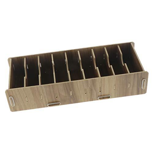 Fenteer Spielkarten Box, Kartenbox Holz Aufbewahrungsbox Karten Speicher - Kirschholz
