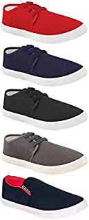 Aura Men Canvas Casual Shoes - Pack of 5