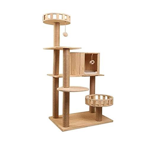 APARTAMENTO DE Gates-Cat STIZADOR Marco TUCHO Tall Tall Cat Tree Tree Entretenimiento Muebles de Juegos for Gatos y Gatitos-Apartamento de Gato Multifuncional