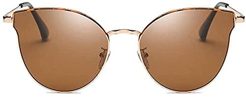 Gafas de sol polarizadas de moda casual UV400, color negro/verde/rosa/marrón, modelos femeninos de tendencia (color: verde)