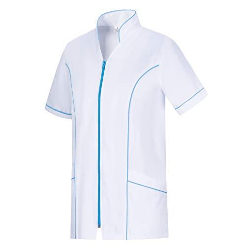 Workwear Tucano - Camisa Sanitarios Mujer Uniforme Doctora Uniforme Laboral Veterinaria SANITAWRIOS Farmacia LABORATOR- Ref.2801 - L, Celeste