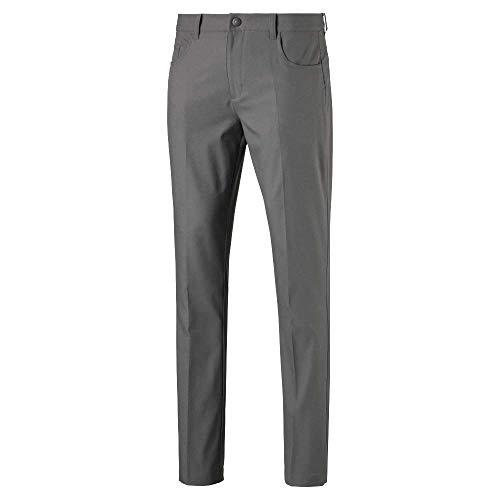 Puma Men's Golf 2019 Jackpot 5 Pocket Pant, Quiet Shade, 34 x 32