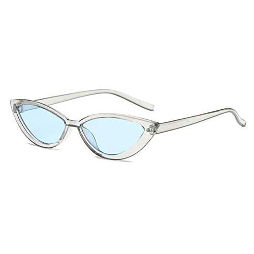 FDNFG Vintage Negro Gato Gafas de Sol Gafas de Sol Mujer Moda de Moda Espejo Espejo Pequeño Marco Cateye Gafas de Sol para Sombras Mujeres UV400 Gafas de Sol (Color Name : Gray)