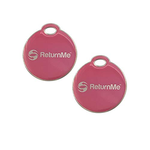 Smart Luggage ID Tags with Lifetime Global Recovery Service (Pink - 2 Pack)