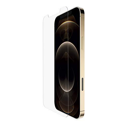 Belkin Proteggi Schermo UltraGlass Antimicrobico per iPhone 12 Pro / iPhone 12, Ottima Protezione, Riduce i Batteri del 99% sullo Schermo