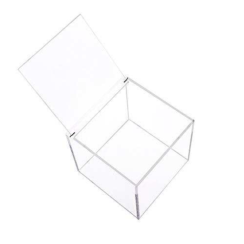 Kapselhalter aus Plexiglas, Kaffeekapselhalter für Nespresso oder Dolcegusto Würfel Transparente Aufbewahrungsbox Kapselspender 13 x 13 x 13 cm