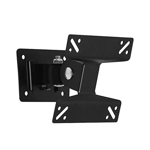 Didad Soporte de Montaje en Pared Universal para Pantalla LED LCD de 15-27 Pulgadas Monitor Ajustable en Altura Pared RetráCtil para Soporte de TV VESA
