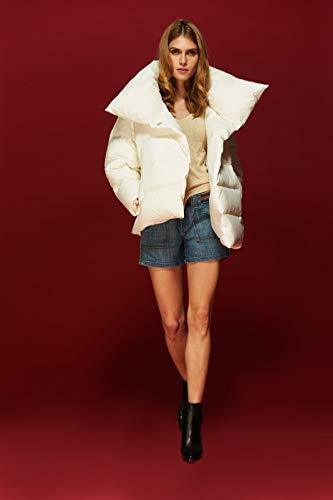 Jejhmy Hochwertige Winterfrauen Daunenmantel Frauen asymmetrisch Kurze warme weiße Daunenmantel Mantel Größe XL weiß