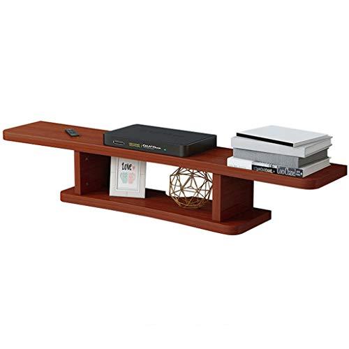 LSLS Gabinete del gabinete de la televisión Montaje en la Pared Soporte de TV Accesorios WiFi Router TV Caja de TV Conjunto de Caja de Cable Flotante estantería de Pared (Color : A)
