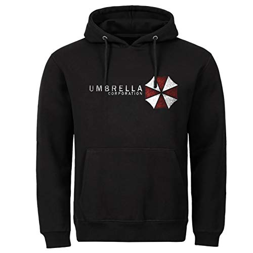 Tex-Ha Umbrella Corporation Game Videospiel schwarz Hoodie Kapuzenpullover (M)