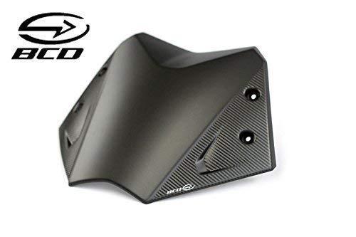 BCD Bulle pour Yamaha TMax 530 T-Max Noir Mat Carbone kit Fixation Short Screen