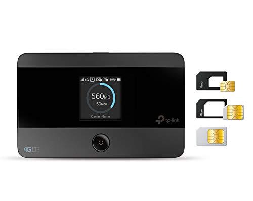 TP-Link M7350 Mobile Router Hotspot Portatile, 4G LTE Cat4 150Mbps, SIM Card, SD Card fino a 32G, Display a Colori, Durata fino a 8 Ore, Controllo del Traffico