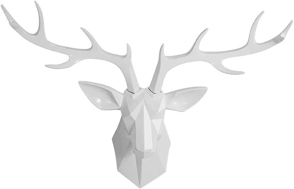 Deer Head Classic Wall Decor - Faux Animal G Mail order Home Taxidermy