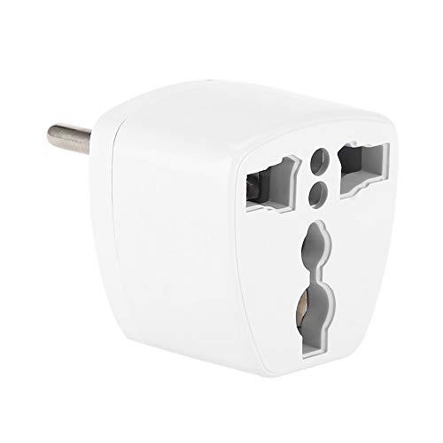 Goshyda Enchufe Adaptador, Adaptador convertidor de Enchufe de alimentación de Viaje Universal portátil, conversión de EE. UU. / Reino Unido/Australia a la UE, para aplicación Europea, Blanco