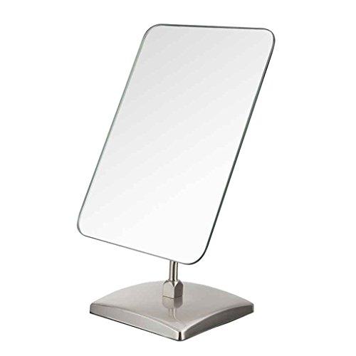 Miroirs de Maquillage de Table de Maquillage de Table carré de Maquillage de en Acier Inoxydable de de beauté HD Unique HD Grand Bureau