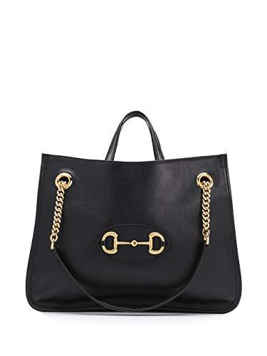 Luxury Fashion | Gucci Dames 6211441U10G1000 Zwart Leer Handtassen | Lente-zomer 20