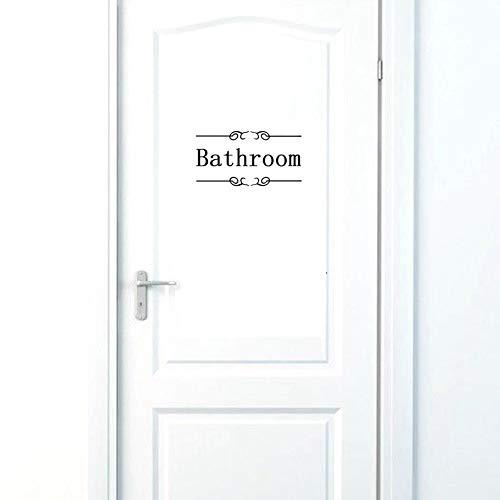 BIBIBIBIBIITIME WC-Aufkleber, lustiges Badezimmer-Waschtischständer, Wandtattoo, Wandaufkleber, abnehmbarer Zitat, Schriftzug Antik DIY Size B Bathroom