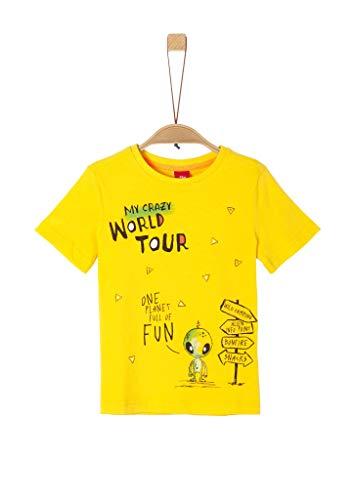 s.Oliver Junior Jungen 404.10.004.12.130.2038130 T-Shirt, 1380 Yellow, 116/122 /REG