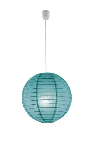 Trio 3490400-19 Lampenschirm Japankugel , Lampion Papier türkis blau PAPIER 40cm