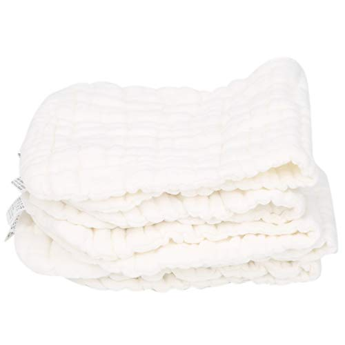 Seacanl Pañal de Gasa para bebés, pañal de pañal para bebé con absorción de Agua Fuerte y Suave, para el hogar(White)