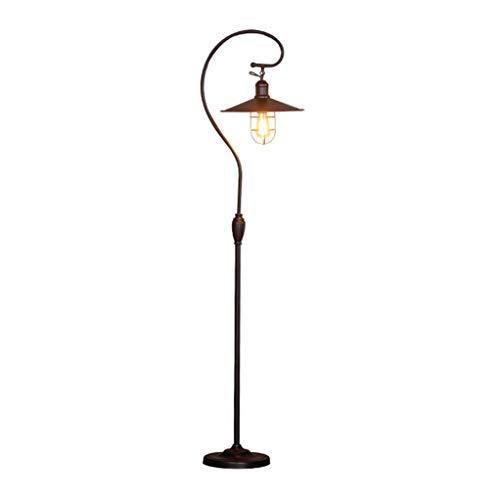TrekCovers Estilo Industrial Dormitorio de la lámpara lámpara de Piso de la Sala país de América Francesa Retro lámpara de luz Negro Piso de Lujo