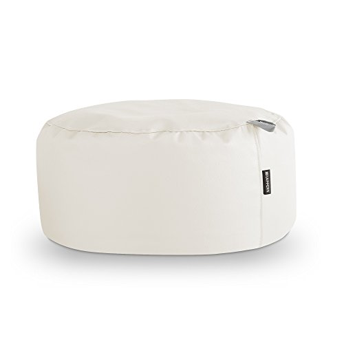 HAPPERS Puff Redondo Polipiel Outdoor Blanco