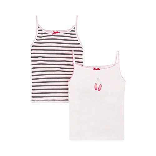 Mothercare Unterhemden (2er-Pack) – Unterwäsche für Babys & Kleinkinder – Unterzieh-Tops - rosa/weiß