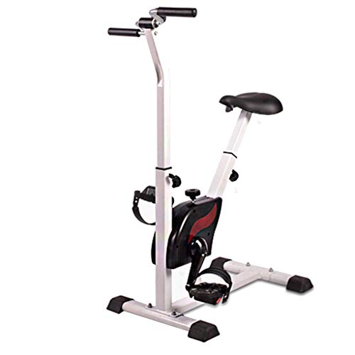 ECHOV Indoor Exercise Bike Indoor Elderly Rehabilitation Exercise Bike, Home Bike Fitness Equipment Training Exercise Exercise Spinning Bike, The Best Gift (Color : White, Size : 6545108cm)