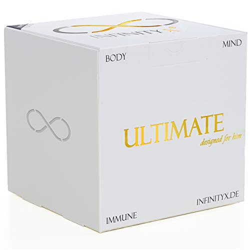 Ultimate White | Muskelaufbau- und Testosteron-Intensiv-Kur in 2x 30 Einzelportionen für Leistungssportler | Hochdosiert | Pre- & Post-Workout | Laborgeprüft | Made in Germany | INFINITY X (White)